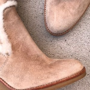 Coach Shoes - Coach Jordana suede Sherpa wedge boots 9M